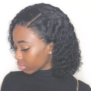 Unprocessed Pre Plucked Curly Lace Wig 12 inch